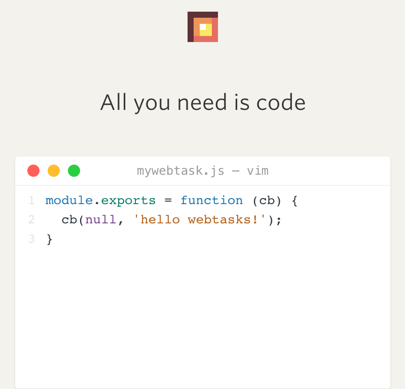 All you need is code! Run code with an HTTP call. No provisioning. No deployment.